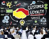 stock photo of loyalty  - Customer Loyalty Service Support Care Trust Business Concept - JPG