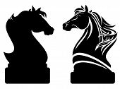 stock photo of outline  - chess knight design  - JPG