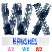 picture of letter x  - Vector set of extremely grunge underground style font - JPG