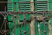 foto of jalousie  - Metal fence background - JPG