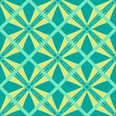stock photo of symmetrical  - Seamless symmetrical geometric pattern vector illustration - JPG
