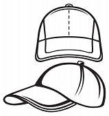 pic of gangsta  - Baseball cap isolated on white background - JPG