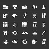 stock photo of fibonacci  - Art activity icons on gray background stock vector - JPG