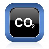 stock photo of carbon-dioxide  - carbon dioxide square glossy icon co2 sign  - JPG