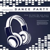 image of club party  - Vector party poster - JPG