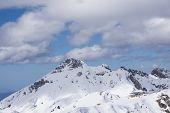 foto of sochi  - Cloudy mountain landscape of Krasnaya Polyana - JPG