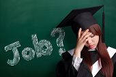 stock photo of graduation  - Where is job  - JPG
