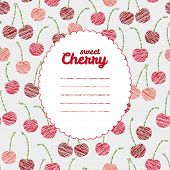 image of cherry  - Text frame - JPG