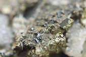 image of iron pyrite  - Macrophoto Pyrite or iron pyrite is an iron sulfide with the chemical formula FeS2