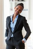 pic of black american  - Portrait of a young African American business woman  - JPG