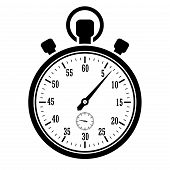 picture of stopwatch  - Stopwatch vector icon isolated on white background - JPG