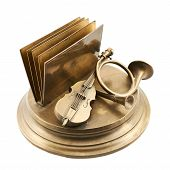 picture of trombone  - Paper and card metal holder as a cello - JPG