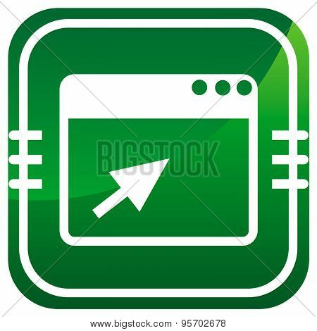 Vector Browser Green Icon