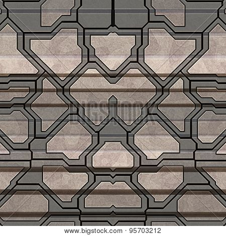Metal Pattern Generated Seamless Texture