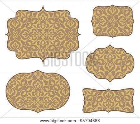 Arabesque Frames with Seamless Pattern