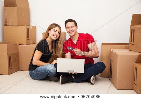 Happy Couple Buying Furniture