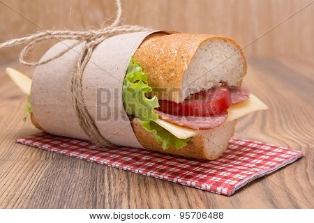 Sandwich With Cheese And Sausage