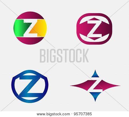 Letter Z Logo vector alphabet design element template