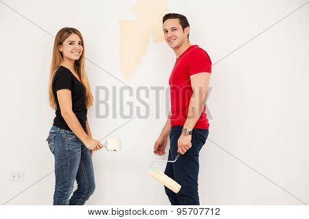 Newlyweds Painting Their Room
