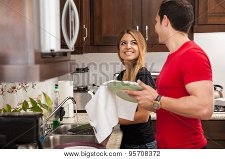 Doing The Dishes Together