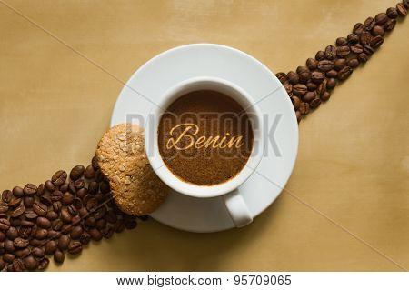 Still Life - Coffee Wtih Text  Benin