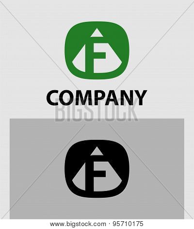 F Letter Logo Icon Design template Element