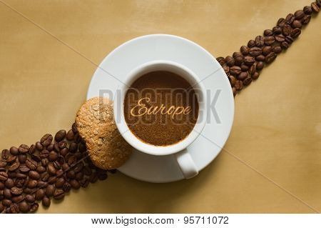 Still Life - Coffee Wtih Text Europe