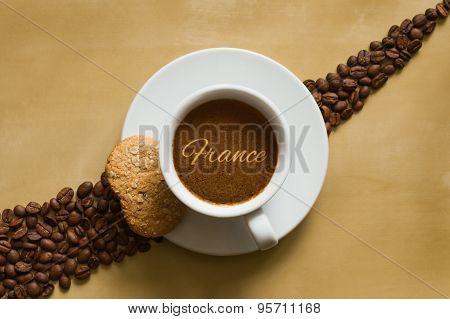 Still Life - Coffee Wtih Text France