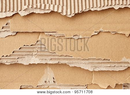 Texture Of Torn Cardboard