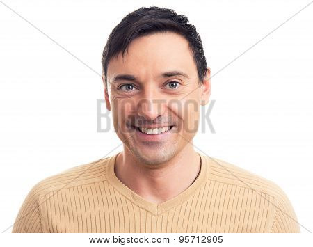 Portrait Of A Handsome Guy With A Smile