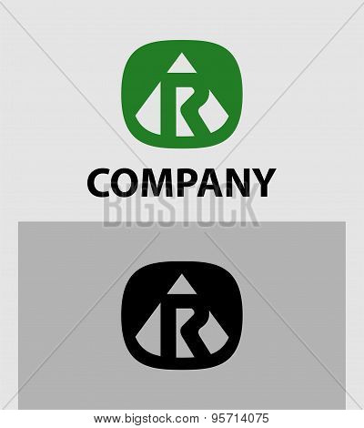 Letter R emblem symbol. Creative corporate concept.