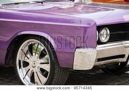 Vintage car closeup