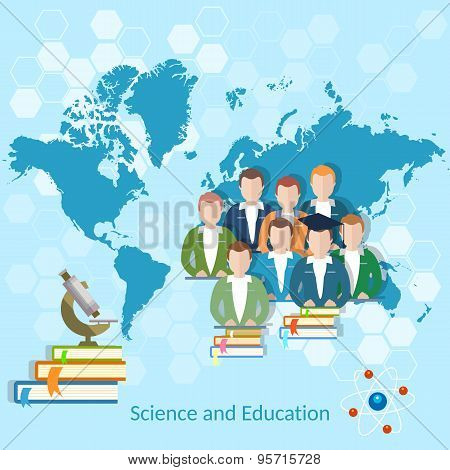 Science And Education: Students, Pupils, School, University, Online Education