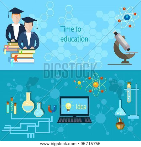 Education And Training: Students, College, Teacher, School, Microscope, University, Chemistry