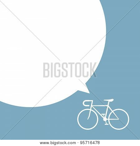 Bicycle With Speech Bubble