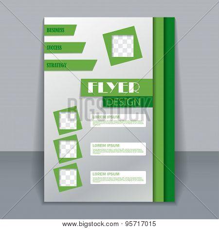 Flyer template, business brochure for design