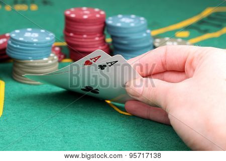 Poker Aces Pair. Game