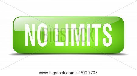 No Limits Green Square 3D Realistic Isolated Web Button