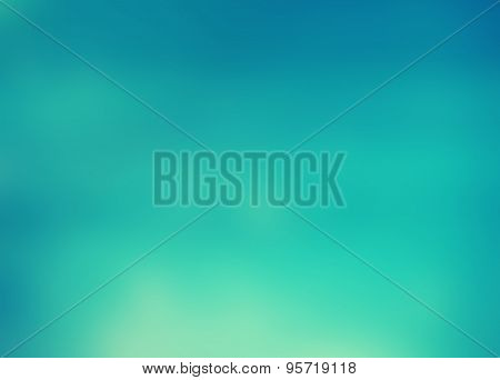 Turquoise Water Blurred Background