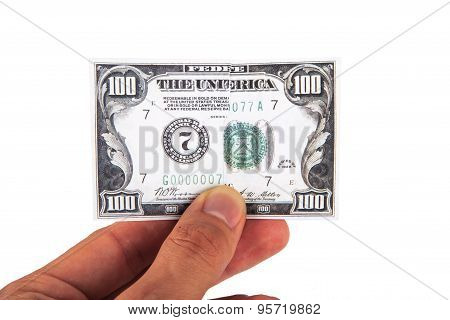 Dollar Banknote On Hand