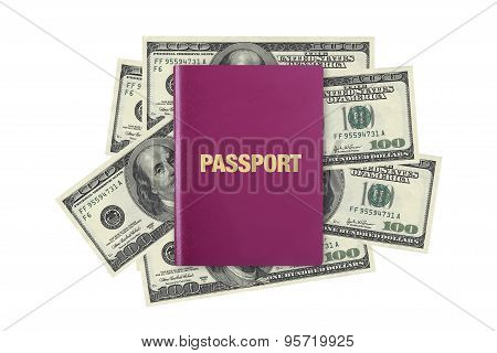 Passport On Dollar Banknotes