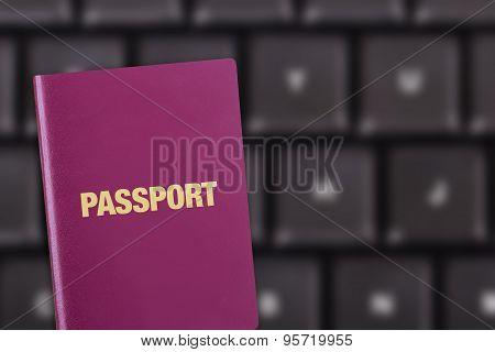 Passport On Keyboard