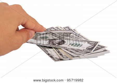 Slicing Dollar Banknote
