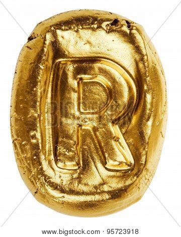 Handmade Ceramic Letter R