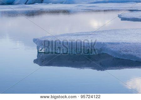 Beauty of breaking Ice in Jokulsarlon