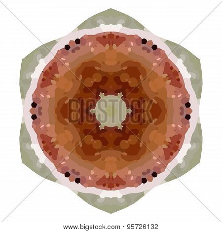art vintage ethnic blurred watercolor floral pattern
