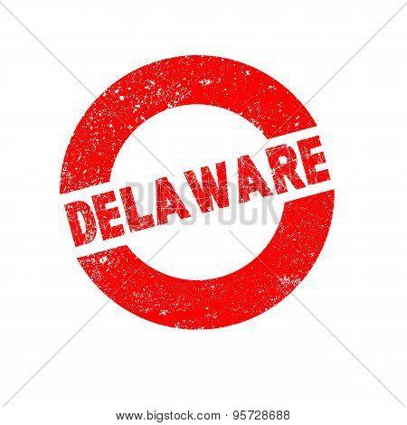 Rubber Ink Stamp Delaware