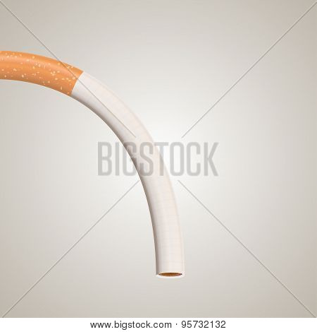 Impotence caused by smoking illustration