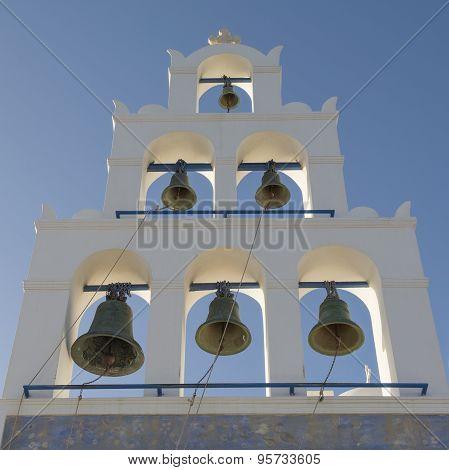 Belfry in santorini