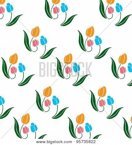 Pattern Of Tulips